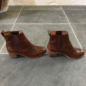 Madewell Brown Leather Reagan Boot 8.5